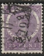 """Ned Indie 1908 Wilhelmina 25 Ct """"JAVA"""" NVPH 76 Gestempeld - Niederländisch-Indien"""