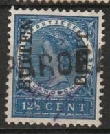 """Ned Indie 1908 Langstempel Van Hulppostkantoor """"..PAROE..""""op Wilh 12,5 Ct """"BUITEN BEZIT"""" NVPH 89. - Niederländisch-Indien"""