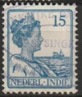 """Ned Indie Stempel """"KONIKLIJKE PAKETVAART MAATSCHAPPIJ S.S. SINGKA..."""" Op Wilhelmina 15 Ct NVPH 118 - Niederländisch-Indien"""