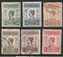 Ned Indie 1913 Wilhelmina NVPH 129-134 Gestempeld/used - Niederländisch-Indien
