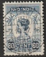 """Ned Indie 1913 Langebalkstempel """"BATAVIA-/MOLENVLIET"""" Op Wilhelmina 60 Ct NVPH 130 - Niederländisch-Indien"""