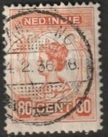 """Ned Indie 1913 Langebalkstempel """"BANDOENG"""" Op Wilhelmina 80 Ct NVPH 131 - Niederländisch-Indien"""