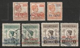 Ned Indie 1917 Hulpuitgifte. NVPH 142-148 Gestempeld - Niederländisch-Indien