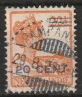 """Ned Indie Langebalkstempel """"PAMPANOEA"""" Op 1917 Hulpuitgifte 20ct Op 22,5ct NVPH 144 - Niederländisch-Indien"""
