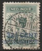 "Ned Indie Langebalkstempel ""WONRELI"" (RARE) Op 1917 Hulpuitgifte NVPH 145 - Niederländisch-Indien"