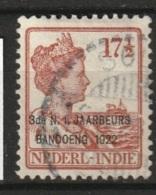 """Ned Indie 1922 17.5 Ct Met Opdruk """"3de N.I. JAARBEURS BANDOENG 1922"""" NVPH 158 Gestempeld - Niederländisch-Indien"""