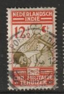 """Ned Indie Puntvlakvullingstempel """"POERWOREDJO"""" Op 1935 Christelijk Militaire Bond NVPH 219 - Niederländisch-Indien"""