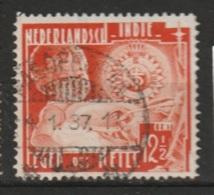 """Ned Indie Langebalkstempel Met Nummer PASOEROEAN 2"""" Op 1936 Leger Des Heils 12,5 Ct NVPH 224 - Niederländisch-Indien"""