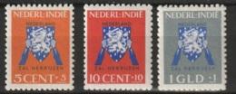 Ned Indie 1941 Vrij Nederland NVPH 290-292 MNH** (10ct, 1gld), MH* (5ct) - Niederländisch-Indien