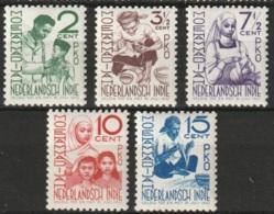 Ned Indie 1941 Moehammadijah NVPH 293-297 MNH**  (2, 3.5, 7.5 En 10ct) MH* (15ct) - Niederländisch-Indien