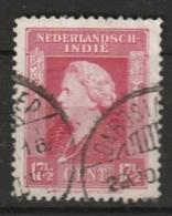 """Ned Indie Langebalkstempel """"DABOSINKEP"""" Op 1945 Wilhelmina NVPH 311 - Niederländisch-Indien"""