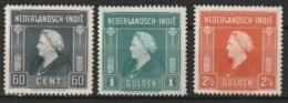 Ned Indie 1945 Wilhelmina NVPH 314-316 Ongestempeld/MH/* - Niederländisch-Indien