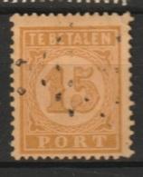 Ned Indie 1874 15ct Port NVPH 3, 12,5 X12 Gestempeld - Niederländisch-Indien