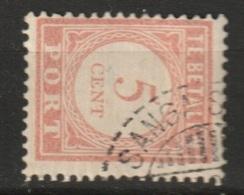 Ned Indie 1913 Langebalkstempel SANGA-SANGA Op 5 Ct. Port  NVPH 26 - Niederländisch-Indien