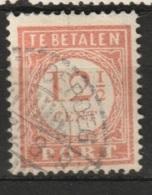 Ned Indie 1913 Langebalkstempel TJITJOEROEG Op 12,5 Ct. Port  NVPH 29 - Niederländisch-Indien