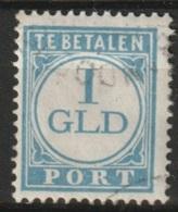 Ned Indie 1941 Indische Druk 1 Gld Port  NVPH 48 Gestempeld - Niederländisch-Indien