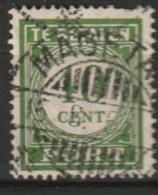 """Ned Indie Langebalkstempel """"MAGETAN""""op 1946 Port-Cijfers 40ct NVPH P62 Gestempeld/used - Niederländisch-Indien"""