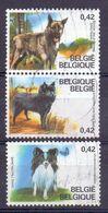 Belgie - 2002 - OBP  - 3064 + 3067/68 - Hondenrassen - Belgium