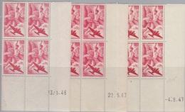 PA  17 3 Blocs De Quatre Coins Datés 13.5.46, 22.5.47, 4.9.47 (Iris), Neuf **. - 1927-1959 Mint/hinged