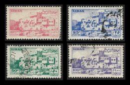LIBAN  1947 -  YT 26 à 29  -  Tripoli   -  Oblitérés - Cote 9.50e - Liban