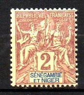 Col17  Colonie Sénégambie & Niger N° 2 Neuf  X MH  Cote 3,00€ - Unused Stamps