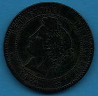 FRANCE 10 CENTIMES 1874 K  CÉRÈS  F.135/13 - France