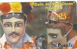 Nicaragua, PubliTel Prepaid, Baile Del Güegüense, RRR, Fine Used - Nicaragua