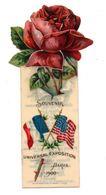 """MARQUE-PAGE  -  Souvenir Universal Exposition Paris 1900 - Publicité """"Libby's"""", Canned Meats, Chicago - Zonder Classificatie"""