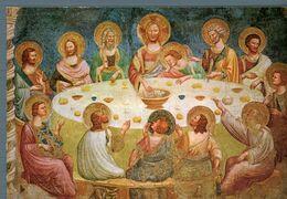 °°° Cartolina - Abbazia Di Pomposa Refettorio La Cena Di Cristo Nuova °°° - Ferrara