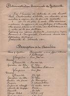 VP31/ Document Envoyé > L'Administration Communale De Godarville 1913 Fabrique D'Allumettes Description Chaudière - Historische Dokumente