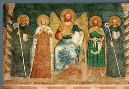 °°° Cartolina - Abbazia Di Pomposa Refettorio Il Cristo La Vergine E Santi Nuova °°° - Ferrara