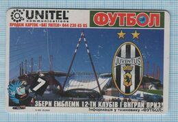 UKRAINE / 030 / Phonecard Ukrtelecom / Phone Card / Football. Juventus . Italy. 05/04 - Ukraine