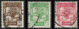 LIBAN  1947 -  YT 23 à 25  -  Cèdre  -  Oblitérés - Liban
