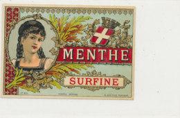 AN 1261   / ETIQUETTE     MENTHE SURFINE  N° 257 - Other