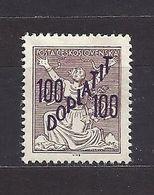 Czechoslovakia 1927 MH * Mi P 53 Sc J 56 Postage Due Stamps, Portomarken. Overprint. Tschechoslowakei C2 - Nuovi