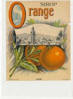AN 1279  / ETIQUETTE    SIROP  D'ORANGE   N° 649 - Other