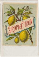 AN 1282  / ETIQUETTE    SIROP   DE  CITRON  N° 2390 - Other
