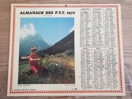 Calendrier-Almanach Des Postes P.T.T.     1972   Île De France - Calendari