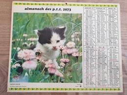 Calendrier-Almanach Des Postes P.T.T.     1973   Île De France - Calendari