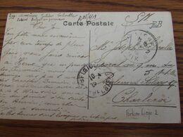 Carte De PROPAGANDE (FORT De LIEGE) En S.M. Oblitération De FORTUNE De L'AGENCE GRATTEE De LIEGE 2  Pour Charleroi - Fortune Cancels (1919)