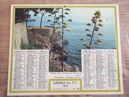 Calendrier-Almanach Des Postes P.T.T.     1974   Île De France - Calendari