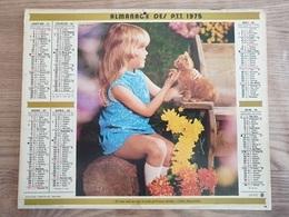 Calendrier-Almanach Des Postes P.T.T.     1975   Île De France - Calendari