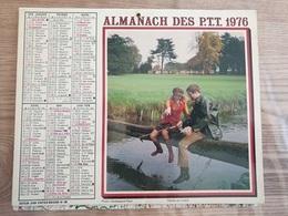Calendrier-Almanach Des Postes P.T.T.     1976  Île De France - Calendari
