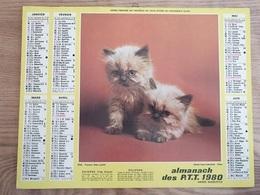 Calendrier-Almanach Des Postes P.T.T.     1980  Île De France - Calendari