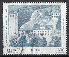 Italia 2001 Uf. 2562 Abbazia Di S. Maria Di Sylvis Sesto Al Reghena Pordenone Used - 2001-10: Usati