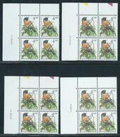Buzin Nr 2397** 4 Verschillende Datums In Blok Van 4 - 1985-.. Birds (Buzin)