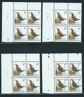 Buzin Nr 2459** 4 Verschillende Datums In Blok Van 4 - 1985-.. Birds (Buzin)