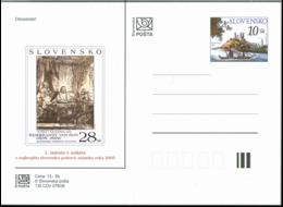 CDV 135 Slovakia Best Slovak Stamp Of 2005 Rembrandt 2006 Bratislava Castle The Danube Donau - Rembrandt