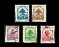 LIBAN  1948-  YT 30 à 34  -  Cèdre  -  Oblitérés - Liban