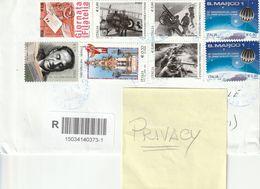 Storia Postale - Usato Su Busta - Francobolli Vari 2014 - 2015 - - 6. 1946-.. Republic